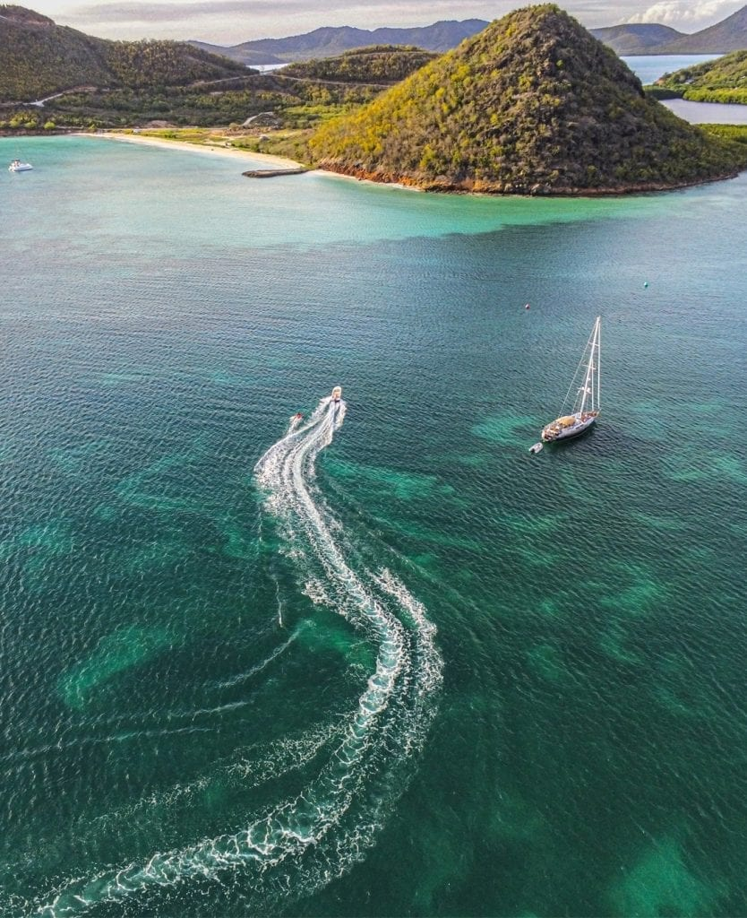 Arrive in style - Antigua aerial photo